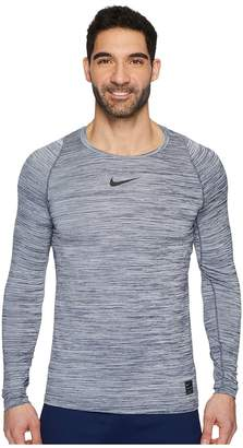 Nike Pro Heathered Long Sleeve Training Top Men's Long Sleeve Pullover