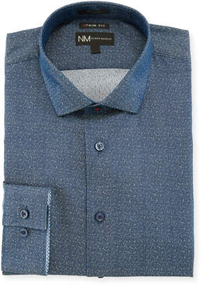 Neiman Marcus XTrim Fit Jacquard Dress Shirt