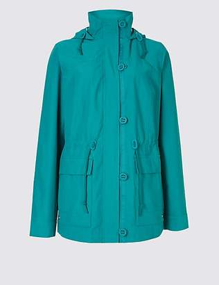 M&S Collection Cotton Rich Anorak Jacket with StormwearTM