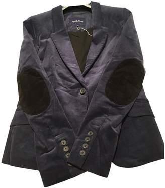 April May Blue Velvet Jacket for Women