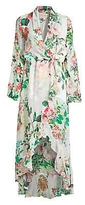 Rococo Sand Women's Long Floral Wrap Dress