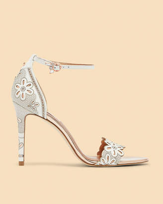Ted Baker CIMAA Laser cut floral heeled sandals