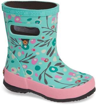 Bogs Skipper Cattail Print Rubber Waterproof Rain Boot