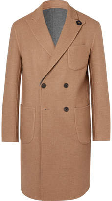 Lardini Reversible Double-Breasted Wool and Alpaca-Blend Overcoat