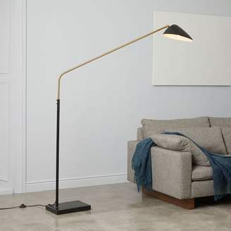 west elm Overarching Curvilinear Mid-Century Floor Lamp - Black