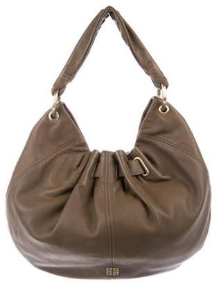 Givenchy Leather Gathered Hobo Brown Leather Gathered Hobo