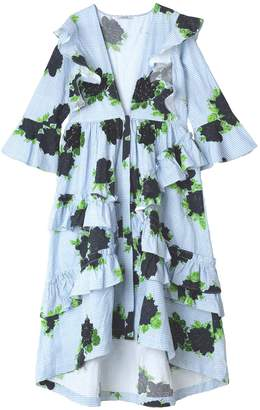 Ganni Pine Dress in Serenity Blue