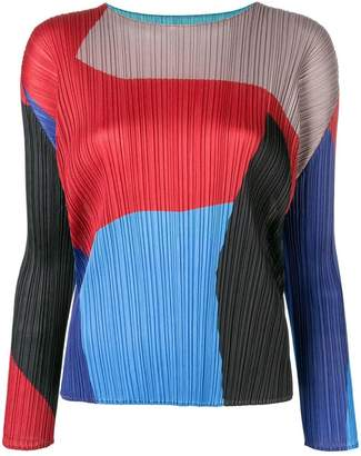 Pleats Please Issey Miyake micro pleated blouse