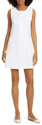 Theory Easy Crew Stretch Linen Blend Shift Dress