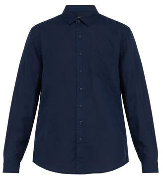 Onia Abe Linen Shirt - Mens - Navy