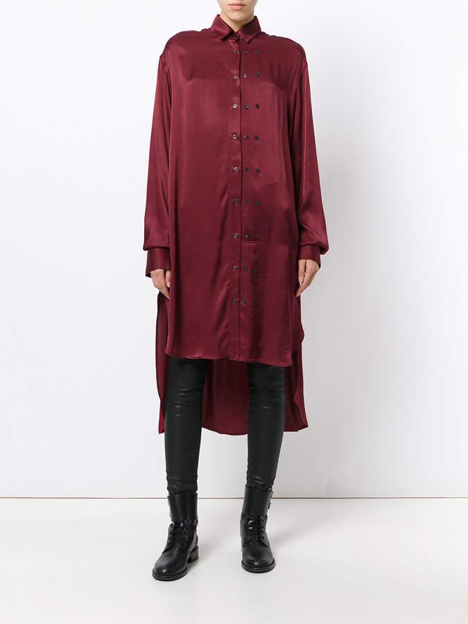 Marcelo Burlon County of Milan long shift blouse