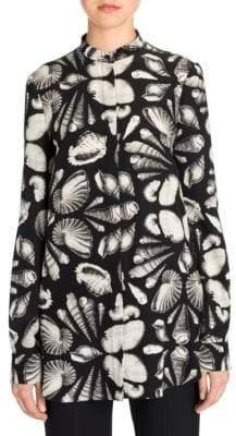 Alexander McQueen Mandarin Collar Shell Shirt