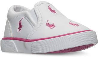 Polo Ralph Lauren Toddler Girls' Bal Harbour Repeat Casual Sneakers from Finish Line $34.99 thestylecure.com