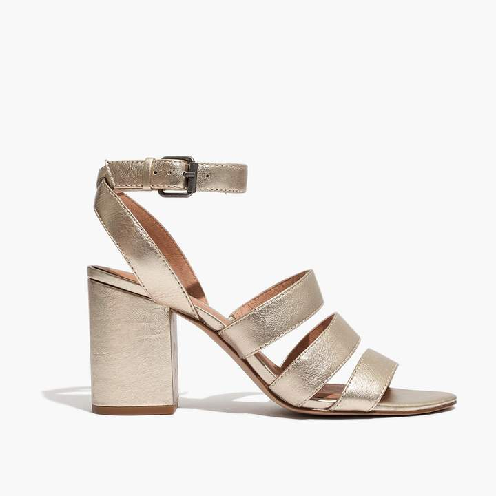 The Maria Sandal in Soft Gold