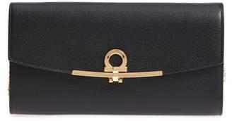 Salvatore Ferragamo Gancio Calfskin Leather Wallet on a Chain