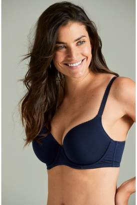 30e6789b38a33 Next Womens Navy White Phoebe DD+ Lightly Padded Balcony Bras Two Pack