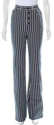 Sonia Rykiel Striped Wide-Leg Jeans