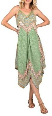Molly Bracken Printed Handkerchief Shift Dress