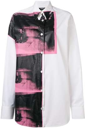 Calvin Klein x Andy Warhol Foundation Little Electric Chair oversized shirt