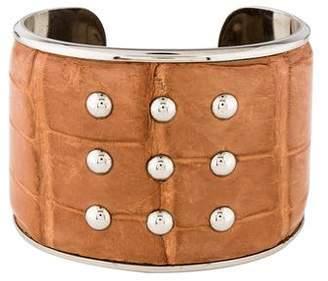 Tod's Embossed Leather Bracelet