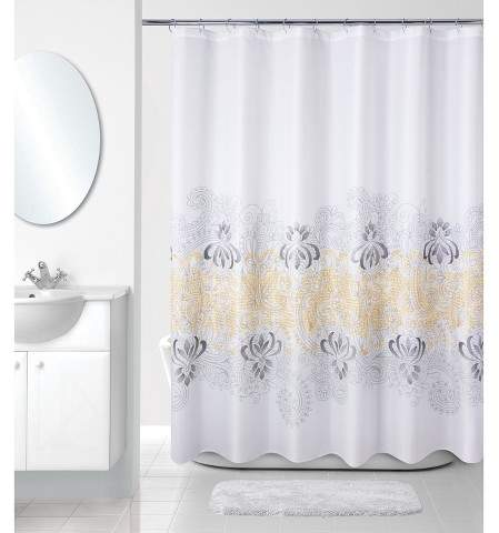 Allure Home Creation Shower Curtain Allure Home Creation Paisley Multi-colored