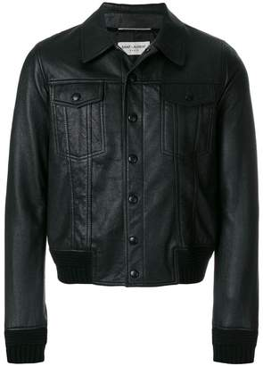 Saint Laurent lambskin buttoned jacket
