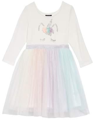 Zunie Unicorn Rainbow Fit & Flare Dress