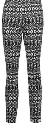 Diane von Furstenberg Jordy Printed Cotton-Blend Skinny Pants