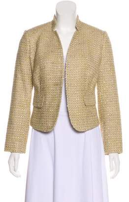 Calvin Klein Notch-Collar Tweed Blazer