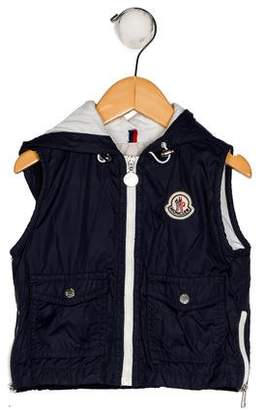 Moncler Boys' Hooded Zip-Up Vest