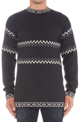 Diesel Black Gold Intarsia Pullover Knit