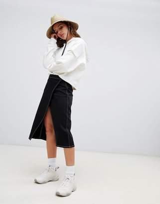 Weekday Wrap Midi Skirt