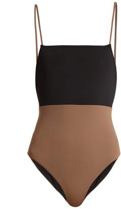 Contrast-panel swimsuit