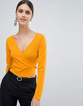 Asos DESIGN Sweater With Wrap Detail