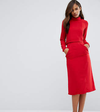 Redream Tall High Waist Midi Pencil Skirt With Pockets