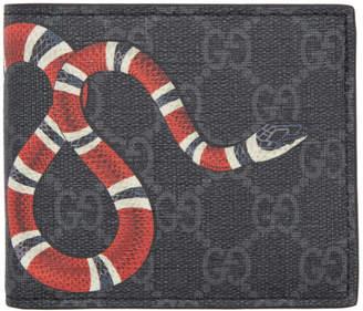 Gucci Black GG Supreme Snake Wallet