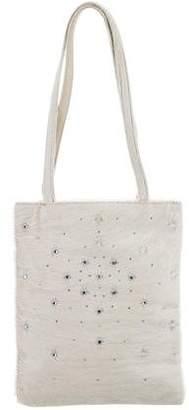 Sergio Rossi Embellished Ponyhair Bag