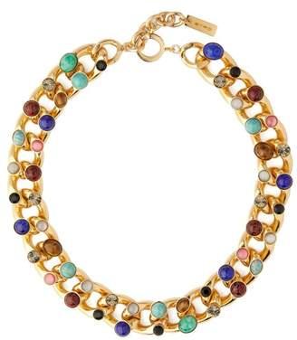 Etro Stone Charm & Chain Necklace - Womens - Multi