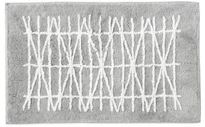 Geometrix Bath Rug in White/Slate