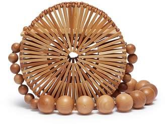 Cult Gaia 'Luna' beaded strap caged round bamboo shoulder bag