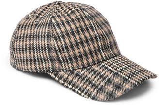 Ami Prince of Wales Checked Virgin Wool Baseball Cap