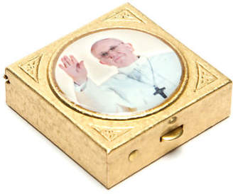 LIBRARY NEW Vatican Collection Pope Francis Trinket Box