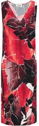 Acne Studios Wrap-effect Printed Crepe Dress