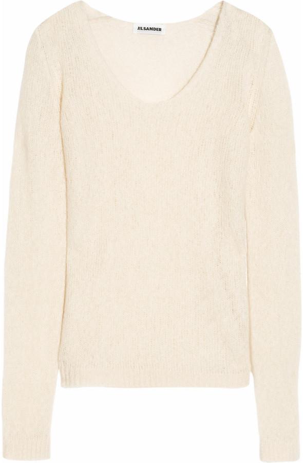 Jil Sander Open-knit cashmere and silk-blend sweater