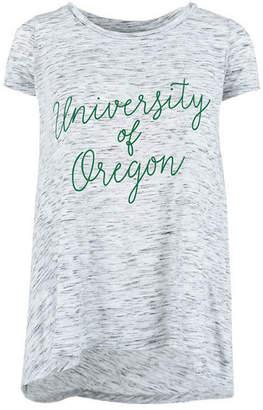 Royce Apparel Inc Women's Oregon Ducks Script Viscose Crew T-Shirt