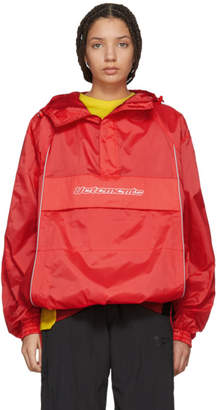 Vetements Red Overhead Half-Zip Jacket