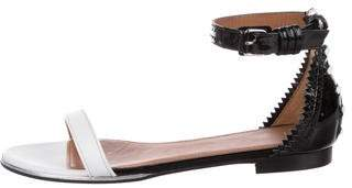 Givenchy Patent Leather Ankle Strap Sandals w/ Tags