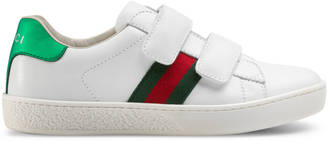 Children's leather sneaker with Web $325 thestylecure.com