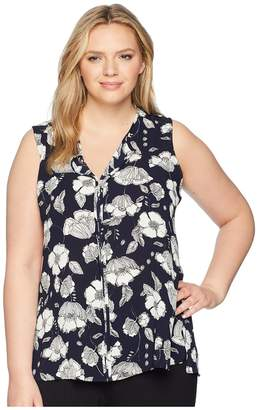Bobeau B Collection by Plus Size Lily Pleat Back Women's Clothing