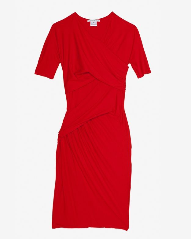 Carven Jersey Stretch Ruched Dress